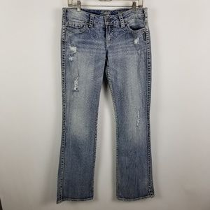 Silver Twisted Bootcut Distress Womens Jeans 28x33